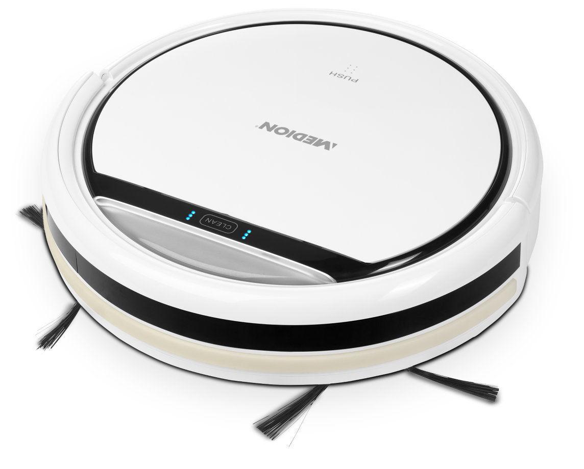 (medion ebay wow) MEDION MD 16192 Saugroboter 2200mAh 0,3L Staubsauger bis 80 Min. Laufzeit weiß