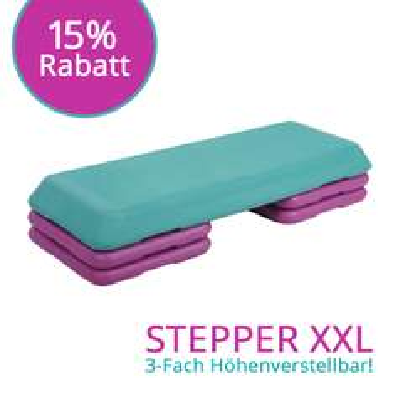 Aerobic Fitness Stepper XXL --> 3-Fach Höhenverstellbar --> 33,96 € inkl. Versand statt 39,95 €
