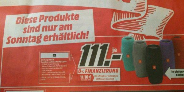 JBL-Charge 3 für 111,- € [Lokal Donauwörth]