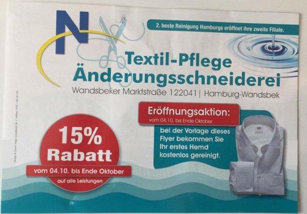 [Lokal-Hamburg] Hemdreinigung kostenlos im W1 Wandsbek