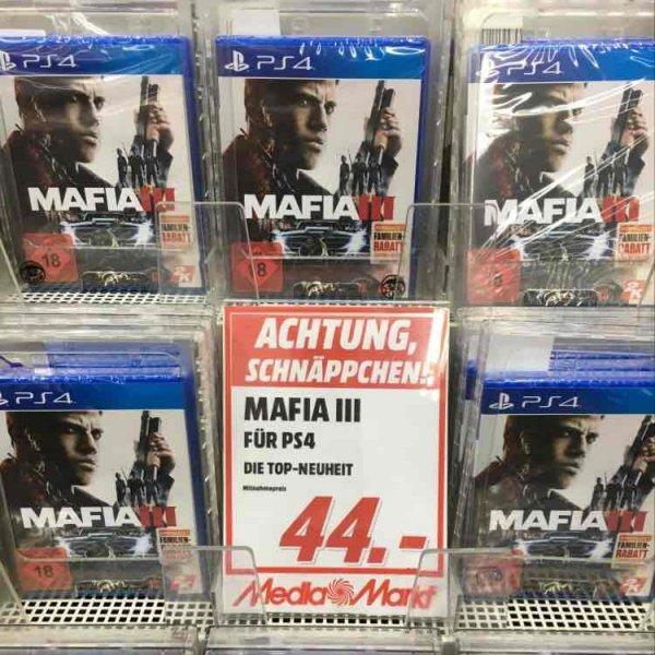 Mafia 3 für PS4 im Media Markt Köln Kalk Arcaden