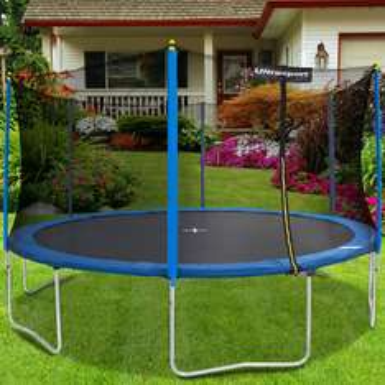 [Amazon.de] Für den extra großen Garten: Ultrasport Kinder Gartentrampolin Uni-Jump (460cm Durchmesser) inkl. Sicherheitsnetz für 117,02€ (Tendenz fallend!)