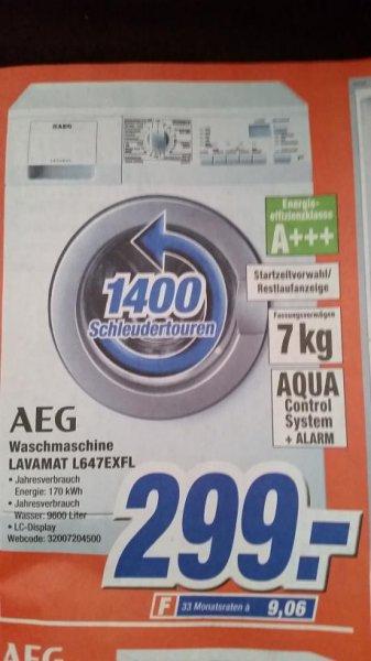 AEG Lavamat L647EXFL Waschmaschine, 7 kg, A+++ --> lokal Expert Döring