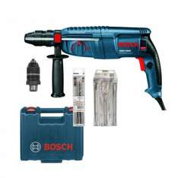 [Contorion] Bosch Bohrhammer GBH2600 mit SDS-plus & Schnellspannbohrfutter + 3-teiliges Meißel-Set & 3 SDSplus Bohrer