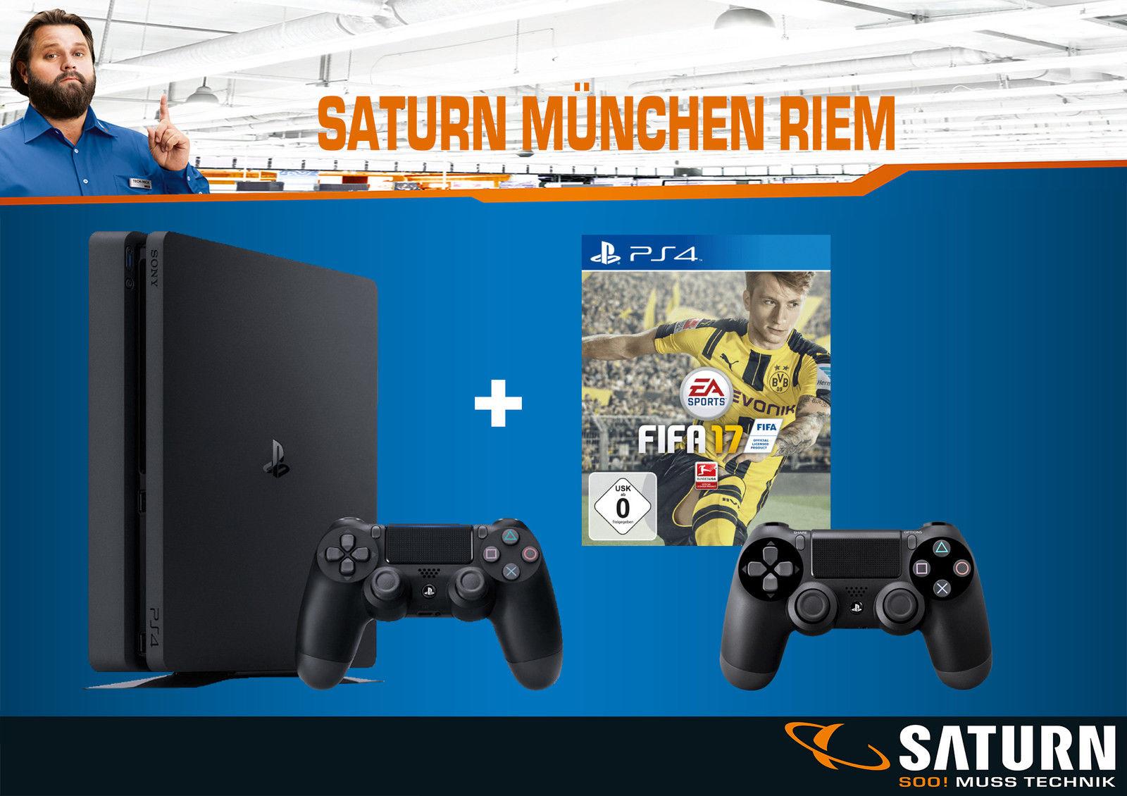 Details zu  Sony PlayStation 4 Slim 1TB mit FIFA 17 und 2 Controllern
