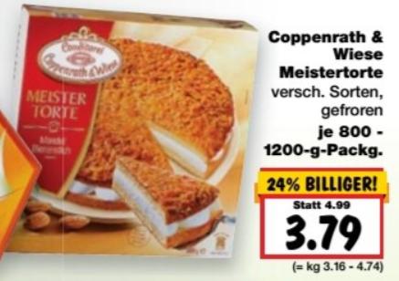 (Kaufland Berlin ab 17.10 ) coppenrath und wiese meistertorte 800-1200g versch. sorten