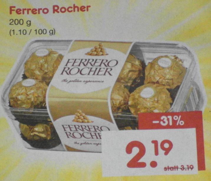 [NETTO ohne Hund]  Ferrero Rocher 200g für 2,19€.