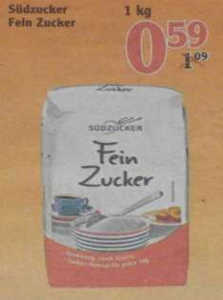 [GLOBUS-Wiesental] 1Kg Fein Zucker (Südzucker) für 0,59€
