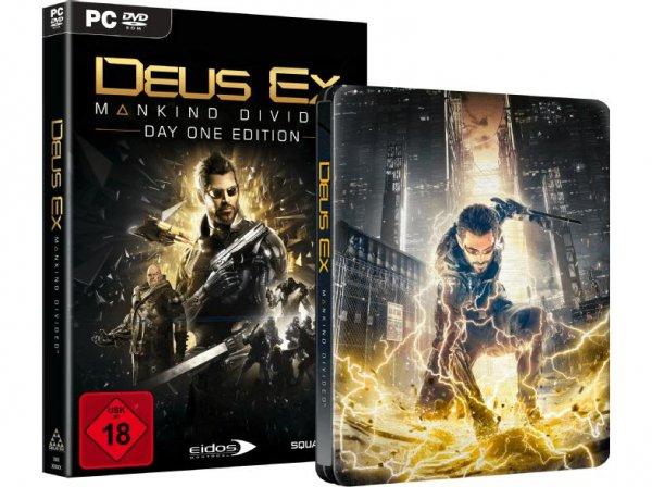 [Media Markt, Abholung]Deus Ex Mankind Divided Day One Edition Steelbook PC für 27,-