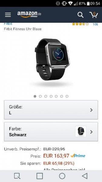 Fitbit Blaze Gr. L schwarz Amazon. de