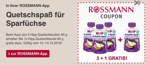 [Rossmann] Hipp Früchtespass 3 kaufen - 1 gratis Gutschein über die App - 10.10.-14.10.