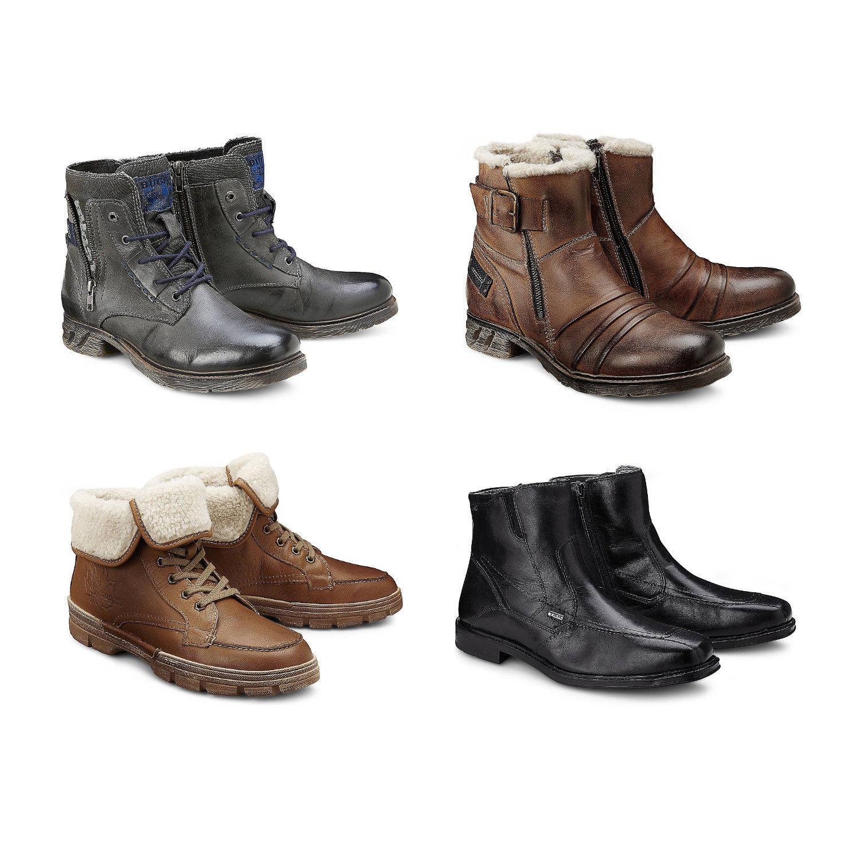 BUGATTI Herren Stiefelette Boots Leder Schuhe Stiefel schwarz braun NEU