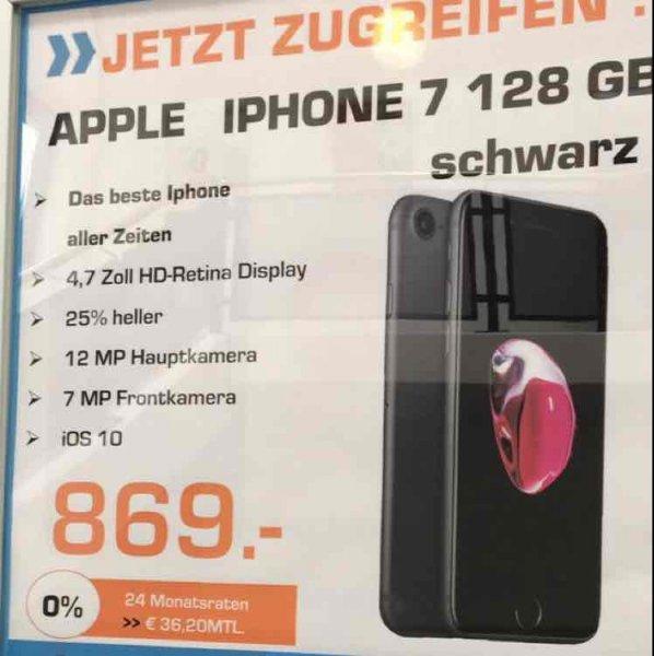 IPhone 7 128 GB schwarz lagernd im Saturn Eving