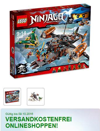 Real Onlineshop LEGO NINJAGO 70605 Luftschiff des Unglücks für 54 € versandkostenfrei