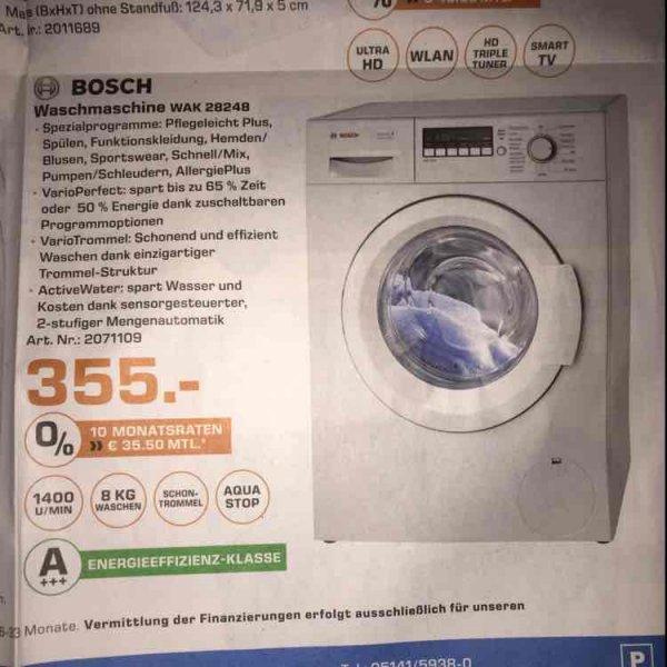 [Lokal Saturn Celle] Bosch Waschmaschine WAK 28248