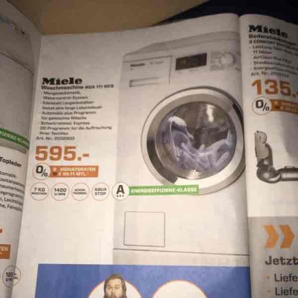 [Lokal Saturn Celle] Miele WDA 111 WCS Waschmaschine