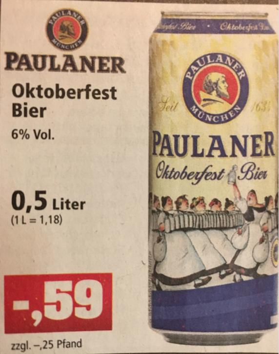 [Thomas Philipps] Bundesweit? 0,59€ Paulaner Oktoberfestbier 0,5L - Ab Montag 10.10.