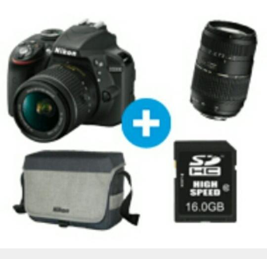 (Saturn Online) Nikon D3300 inkl. Objektiv (18-55mm)+ Tamron Objektiv (70-300) + Tasche + SDHC 16 GB Karte