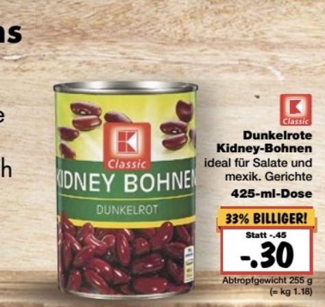 Kaufland berlin chili con carne kidneybohnen 425ml Dose