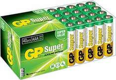 Amazon Prime: GP LR03 Micro AAA Super Alkaline (40-er Pack)