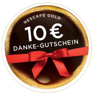 2x Nescafe Gold kaufen und einen 10€ Einkaufsgutschein erhalten [bundesweit]