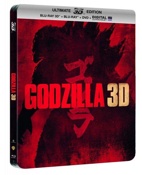 (Amazon.fr) Godzilla - Steelbook Ultimate Edition: 3D Blu-ray + Blu-ray + DVD + Digitale Kopie (OT) für 11,80€