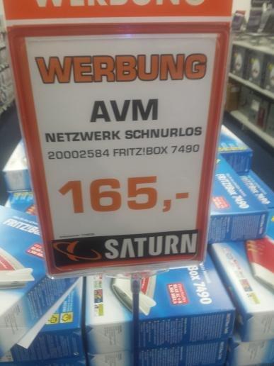 (Lokal) AVM Fritzbox 7490 Saturn Gelsenkirchen Buer