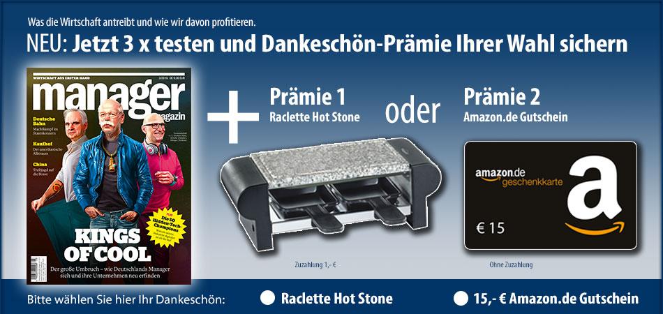 Manager Magazin mit 12,10 Euro Gewinn - 3 Ausgaben (17,90 Euro & 30 Euro Amazon Gutschein)