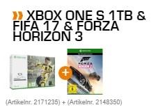 Xbox One S 1TB + Fifa 17 + Forza Horizon 3 für 349€ [Saturn]