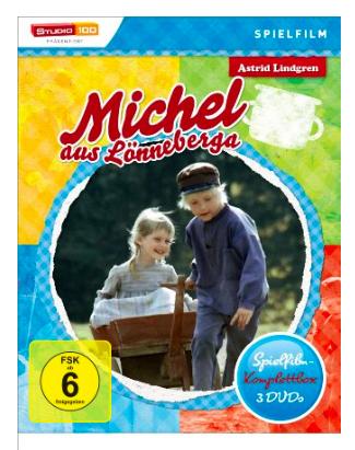 Michel aus Lönneberga Spielfilm Komplettbox, 3 DVDx27s für 14,97€ mit [Amazon Prime]