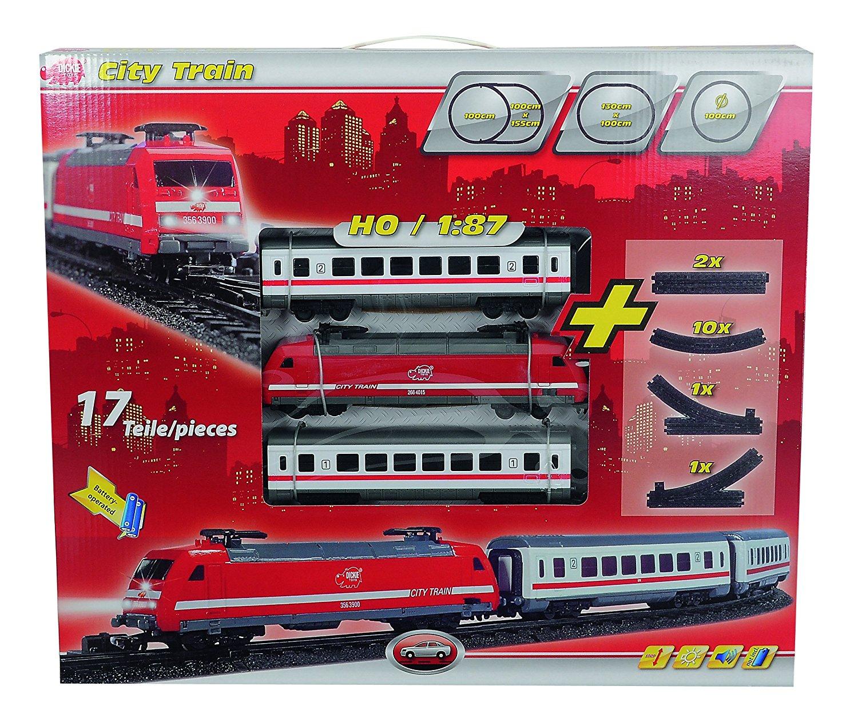 [Amazon.de-Prime] Dickie 3563900 City Train, Lok mit 2 Personenwagen für H0, Maßstab 1:87
