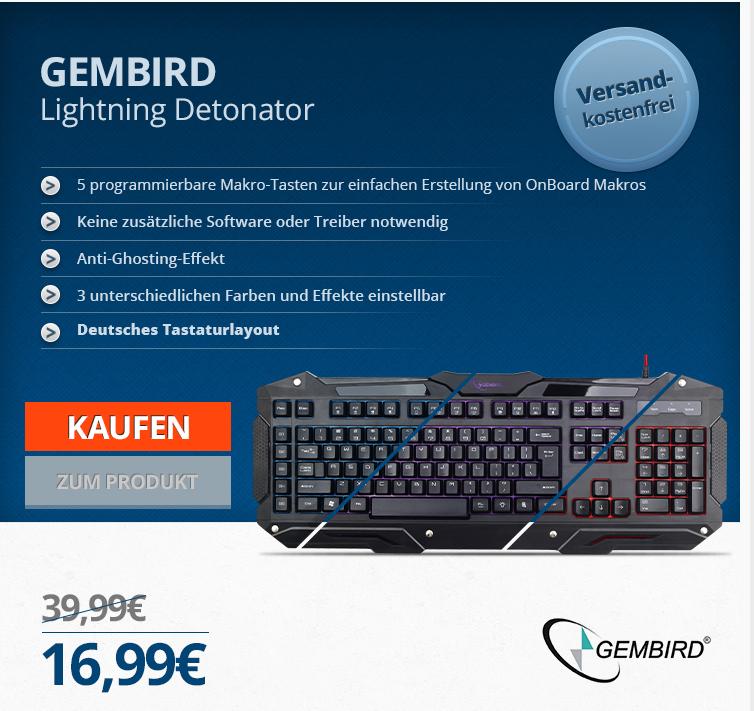 GEMBIRD Lightning Detonator - Gaming-Tastatur