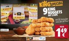 9 Nuggets für nur 1,49€ ab heute bei Burger King
