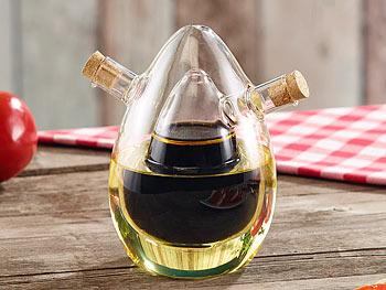 Rosenstein & Söhne 2in1-Essig- und Öl-Spender aus Glas