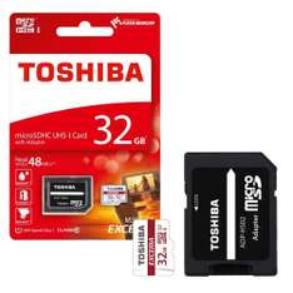 Toshiba Exceria microSD Class 10 / U1 mit 32GB für 7,30€ & mit 64GB für 12,72€ [7DayShop]