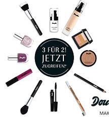 3 für 2-Aktion auf Make-Up: Der 3. Artikel ist kostenfrei +10% Rabatt on top @Douglas (im Moment sogar der zweite)