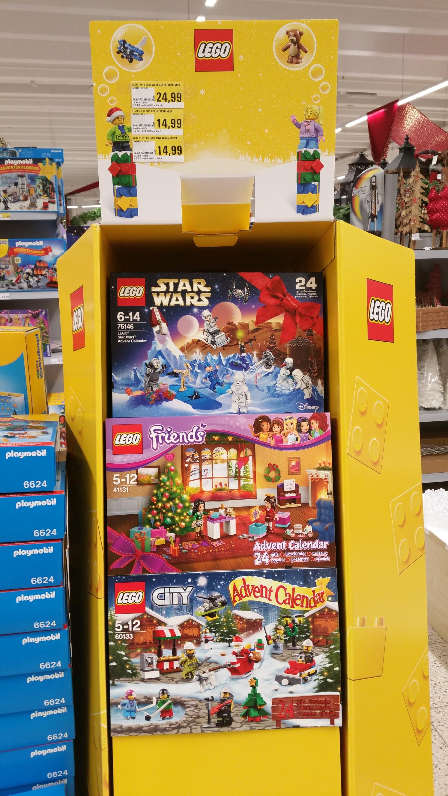 [Ulm] Lego Adventskalender City oder Friends bei V-MARKT 14,99€ idealo PVG 18,95€