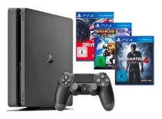 (Saturn) Sony PlayStation 4 Slim 1TB + Uncharted 4 + DriveClub + Ratchet & Clank für 359€ oder PlayStation 4 Slim 1TB + Watch_Dogs 1 + Watch_Dogs 2 für 339€