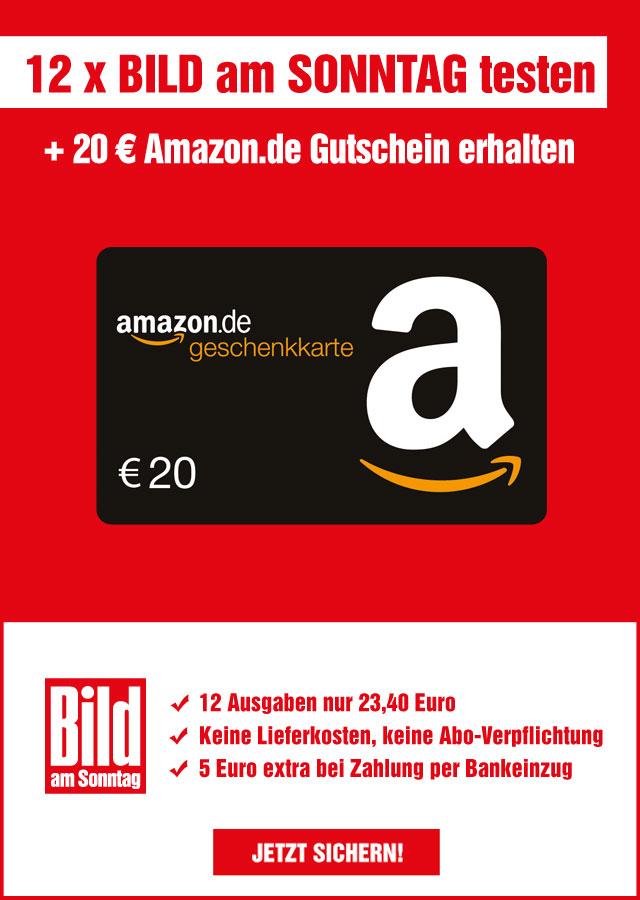 12x Bild am Sonntag für 23,40 Euro testen + 20 Euro Amazon Gutschein