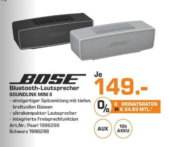 [Lokal Saturn Leverkusen] Bose Soundlink Mini II für schlappe 149 Euro