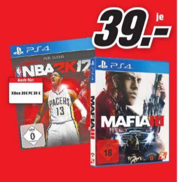 [Lokal Mediamarkt Duisburg] Mafia 3 (PS4/XB1) und NBA2k17 (PS4/XB1) für je 39,-€