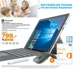 [Lokal Saturn Bremen] Surface Pro 4 I5/4GB/128GB + Type Cover + Surface Pen + Arc Touch Mouse und Office 365 für 799 €