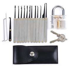 [banggood] Lockpicking Set, Intsun, 15-teiliges Professional Pick-Set mit Dietrich Kit, transparentem Übungschloss, 2x Schlüsseln & 15x Picking Werkzeugen