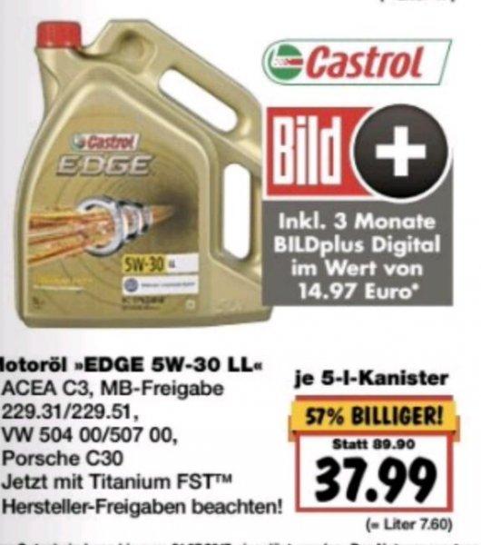 Castrol Edge Motoröl 5 W 30 für 37,99