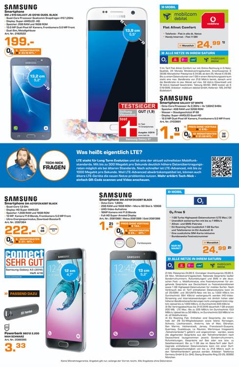[LOKAL Saturn Ludwigsburg] Samsung Galaxy A5 (2016) A510F 3 Farben