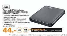"(Lokal) WD Elements Portable 1TB 2,5"" 3.0 für 44€ 2TB für 69€ @ Saturn Essen"
