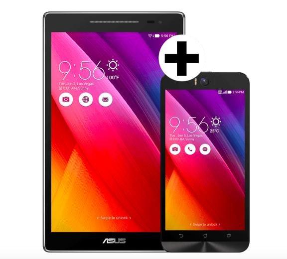 (MediaMarkt.at) Asus ZenFone Selfie Smartphone + Asus ZenPad 8.0 16GB WiFi Tablet für 299€ inkl. Versand