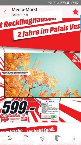 Sony KDL55W805C für 599 € im Media Markt Recklinghausen