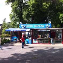 Lokal Berlin: Döner Kebab für 1,50 € beim Lilliput-Bistrow am S-Bahnhof Treptower Park