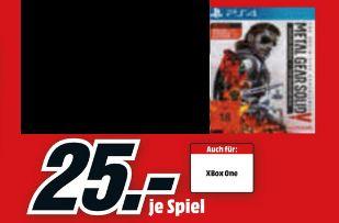 (Lokal Mediamärkte Berlin und Umgebung] Metal Gear Solid 5: The Definitive Experience (PS4/Xbox One) für 25,-€